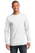 Mens Long Sleeve T-Shirt Heavy Cotton Crewneck Plain Comfort T Blank Tee PC61LS