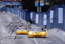 Corvette CORVETTE CR.6 Racing signé par 6 12x8 ALMS Baltimore GRAND PRIX 2013