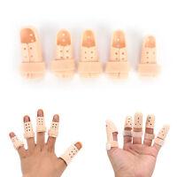 6 tamaños plástico dedo protector soporte férula protecc*QA