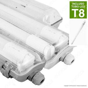 Plafoniera Stagna con Tubo LED T8 60 120 150 cm Neon G13 IP65 V-Tac da Soffitto
