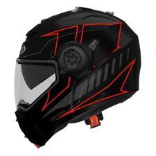 Casco modulare apribile moto Caberg Droid Blaze nero rosso taglia M