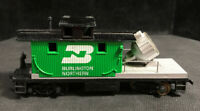 HO Burlington Northern Searchlight Maintenance Caboose 100% Tested  Lot DD17