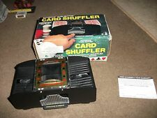 "1987 VINTAGE BATTERY OPERATED BOXED CARD SHUFFLER AUTOMATIC ""PUSH BUTTON"""
