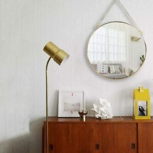 Hanging Wall Circle Mirror Gold Geometric Mirror With Chain For Bedroom Decor