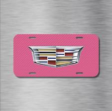 Cadillac Vehicle License Plate Front Auto Tag CTS ESCALADE XTS PINK CARBON FIBER