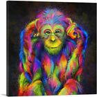 ARTCANVAS Chimpanzee Chimp Monkey Africa Great Ape Canvas Art Print