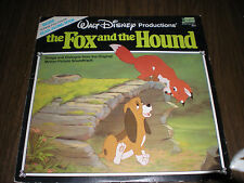 The Fox and the Hound Walt Disney LP Record and Book Set 1981