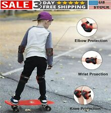 Knee Elbow Pads Guards Protective Safety Gear Set Kids Roller Skate Cycling Bike