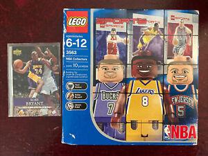 NIB Lego 3563 NBA Collectors-Kobe Bryant Kukoc &Kidd&UPPER DECK KOBE BRYANT CARD