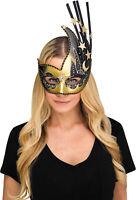 Womens Deluxe Celestial Stars Or Flower Half Mask Halloween Costume Accessory