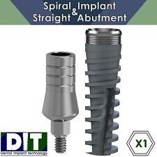 1 X Dental Implant SPI ® SET Spiral Implant & Straight Abutment (RP) Ø 3.75