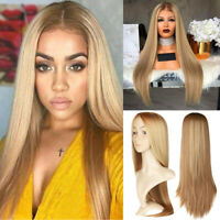 Womens Long Wavy Straight Curly Hair Synthetic Cosplay Full Wig Wigs Party