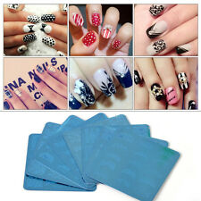 Manicure Nail Art Image Stamping Polish Print Plate Template Stamper Scraper 6x6