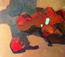 Brand New Original oil painting still life Abstract Garnets modern art Lozovoy