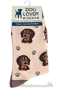 Womens Dachshund Sausage Dog Lover socks OneSize quality cotton mix novelty gift