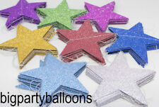 GLITTER GARLAND BUNTING BANNER STAR 2.6M PARTY DECORATION 3 COLOURS PINK STRING