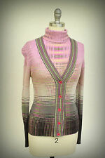 MISSONI M Size 4/6 Twinset Cardigan and Turtleneck Made in Italy Sweaters