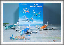 """Set of 3 Phoenix 1:400 ANA Airbus a380 """"Flying Honu"""" models in Collection Box"""