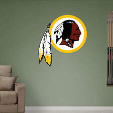 "Washington Redskins FATHEAD Primary Team Logo 24"" x 21"" Official NFL Graphics"