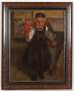 "Ernst Zimmermann (1898-1966) ""Flowers for mother"", oil on canvas, 1918"
