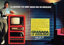 Publicité Advertising 107  1984  Granada (2p)  le videologue tv magnétoscope