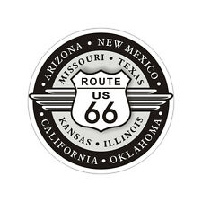 Sticker plastifié ROUTE Road 66 USA Harley Davidson - 7cm x 7cm