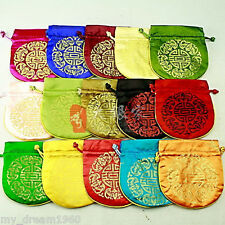 WHOLESALE 10PCS CHINESE CLASSIC HANDMADE Silk GIFT JEWELRY BAGS POUCH