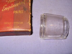 NOS Mopar 1941 Desoto License Lamp Lens