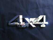 4 X 4 BADGE LOGO 150mm x 35mm CHROME PLASTIC STICK ON