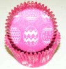 50 Blanco Huevos de Pascua en Rosa Cupcake Forros Baking Tazas Estándar Talla