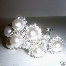 Forcine Acconciatura Capelli cerimonia bianco sposa strass perla forcina  E0055 78017ff907b4