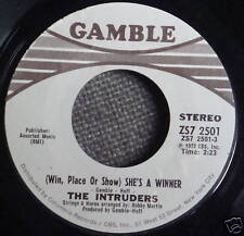 The INTRUDERS 45 She's A Winner / Memories are here to stay PROMO MINT- a876