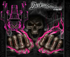 """TRAXXAS SLASH 4X4 GRAPHICS WRAP DECALS """"HELL RIDE"""" DECAL SET KIT PINK FLAME"""