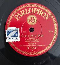 """RARE 78RPM 10"""" PARLOPHON GABRE' SIBERIANA / CANTO ALLE STELLE  CHERUBINI BIXIO"""