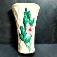 "Vintage Wall Pocket Morton Pottery Floral 7.5"" Mid Century Modern 1950's Decor"