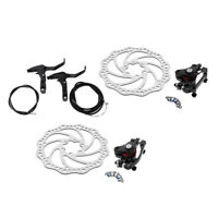 Bicycle Bike Front Rear Disc Brake kit 160mm Rotor Calipers Cable Lever Set