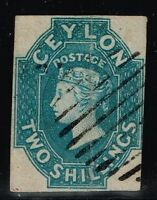 Ceylon SG# 12 - Used - (Light Vert Crease) - Lot 80915