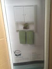 Zenith White Wood Bathroom Storage Cabinet Shelf Organizer Toilet Tank Topper