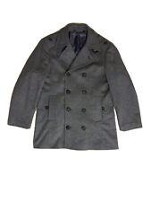 TED BAKER peacoat JACKET coat GREY size 5 cashmere 42 52 XL mens £480 rare
