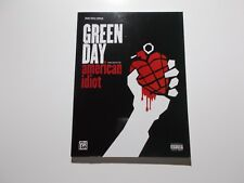 * Green Day-American Idiot Songbook-piano- vocal-Chords New