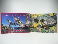 *** NORVEGIA CORONE KMS 2002 Coin Set Norway CORSO set di monete non monete metalliche in euro **