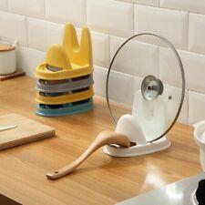 Portable Pot Lid Cover Spoon Rest Pan Stand Rack Holder Shelf Organizer Holder