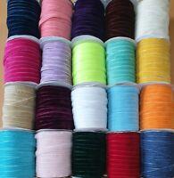Velvet Ribbon  10mm  23  Colours Buy 2 Get 1 Free