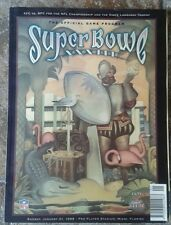 Official Superbowl Xxxiii Programme Broncos v Falcons Pro Player Stadium 1999