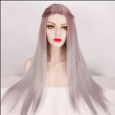 LOLITA Girl Women's Fashion Long Straight Hair Lolita Ombre Silver Cosplay Wig