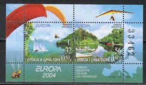 Yugoslavia, Europa CEPT año 2004, en nuevo **/MNH, Michel-N° Bl 57  (K061)