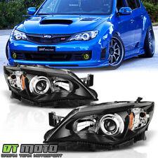 For Black 2008-2011 Subaru Impreza Wrx Sti Outback Sport Headlights Replacement (Fits: Subaru)