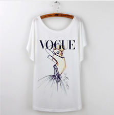 Cinderella ART VOGUE Print | Casual White Tshirt | Disney Princess | Size S - M