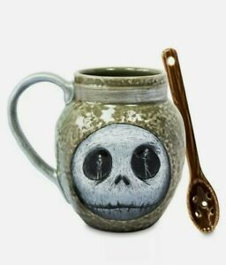 Disney Jack Skellington Nightmare Before Christmas Mug and Spoon Set Night Shade