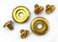 Kart CK6 and SK6 Arai Helmet GOLD Anodised Bolts And Washers New Kart Parts UK